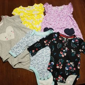5 pack of long sleeve baby girl shirts